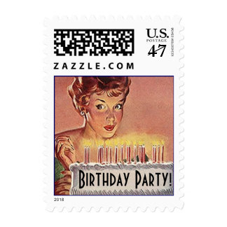 Stamps Vintage Style Retro Birthday Party Stamp