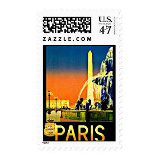 Stamps-Vintage Travel-Paris Postage