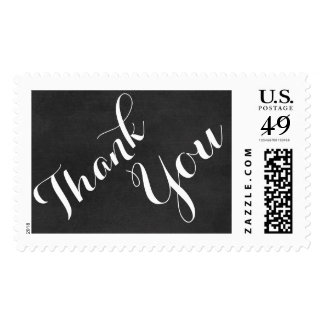 Stamps wedding thank you chalkboard rustic chic