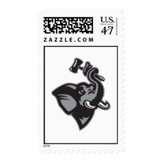 Stamps with Grayscale Logo Only