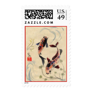 Stamps with Koi