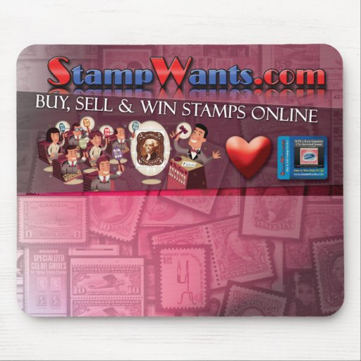 StampWants.com Presnts TM's Girl Mouse Pad