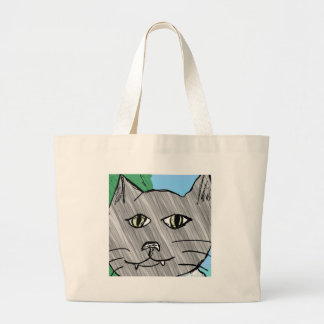 Stan the cat canvas bags