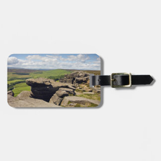 Stanage Edge in the Peak District souvenir photo Luggage Tag