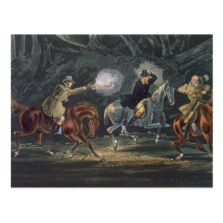 Stand and Deliver, aquatinted by E. Duncan Postcard