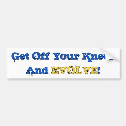 Stand And Evolve Car Bumper Sticker