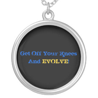 Stand And Evolve Round Pendant Necklace