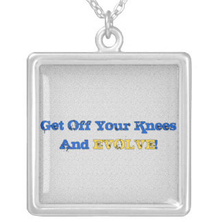 Stand And Evolve Square Pendant Necklace