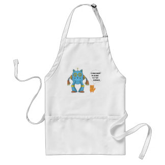 Stand Back Going To Try Science Funny Robot Cat Adult Apron