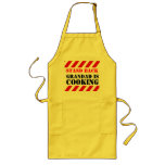 Stand back grandad is cooking graphic cooks apron long apron