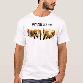 Stand Back Grandpa's Grillin Flames T-Shirt