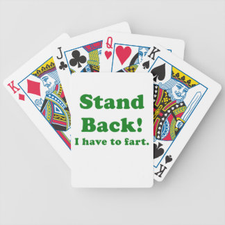 Stand Back I have to Fart Bicycle Playing Cards