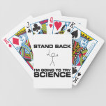 Stand Back I'm Going to Try Science Bicycle Playing Cards