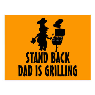 Stand Back Postcard