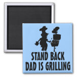 Stand Back Refrigerator Magnets