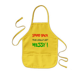 Stand Back This Could Get Messy - child's Kids' Apron