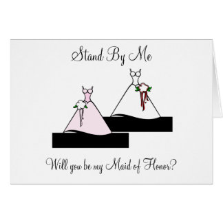 Stand By Me Maid of Honor on Stairs Greeting Card