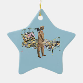 Stand by you bed Funny Cat Gardner Ceramic Ornament