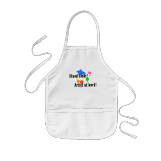 Stand Clear - Artist at Work Kids' Apron