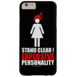 Stand clear! explosive personality barely there iPhone 6 plus case