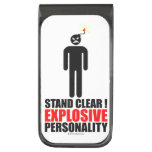 Stand clear! explosive personality money clip