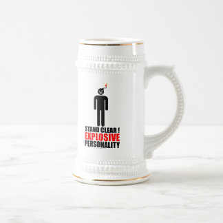 Stand clear! explosive personality mug