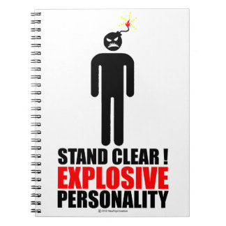 Stand clear! explosive personality notebook