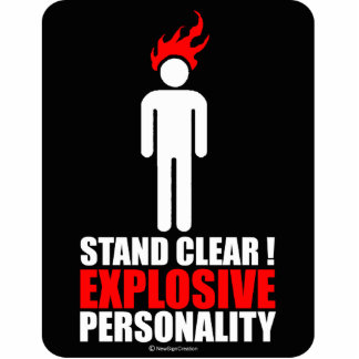 Stand clear! explosive personality photo cut out