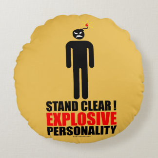 Stand clear! explosive personality round pillow
