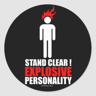Stand clear! explosive personality round stickers