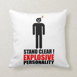 Stand clear! explosive personality throw pillows