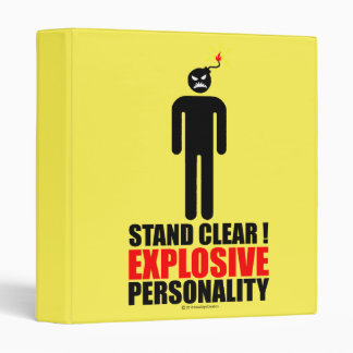 Stand clear! explosive personality vinyl binders