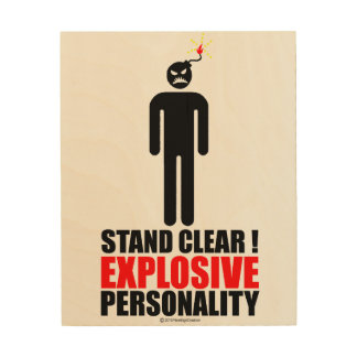 Stand clear! explosive personality wood prints