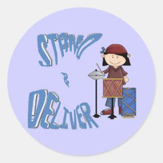 Stand & Deliver Round Sticker