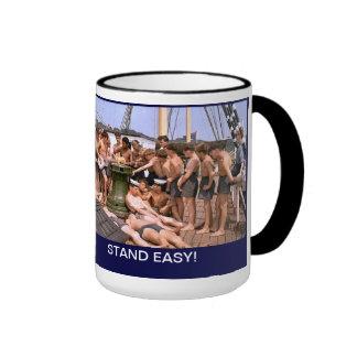 Stand EAsy on TS Arethusa Ringer Coffee Mug