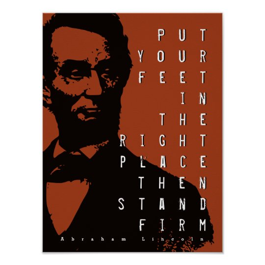 Stand Firm Motivational Quote Abraham Lincoln Poster
