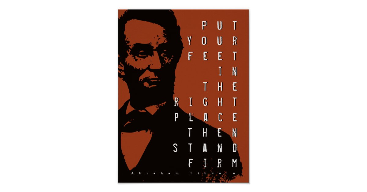 Stand Firm Motivational Quote Abraham Lincoln Poster Zazzle Com