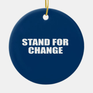 STAND FOR CHANGE Double-Sided CERAMIC ROUND CHRISTMAS ORNAMENT