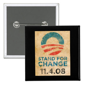Stand For Change Obama Pinback Button