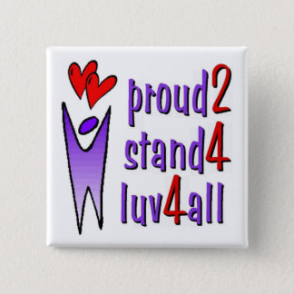 Stand For Love Button - White
