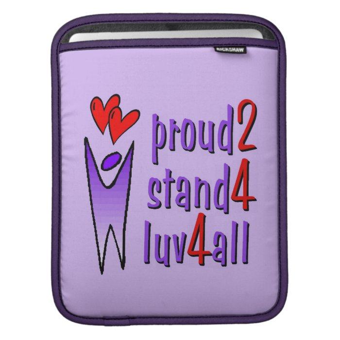 Stand For Love iPad Sleeve - Lavender