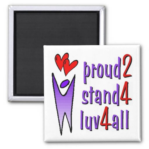 Stand For Love Magnet - White