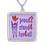 Stand For Love Necklace - Lavender