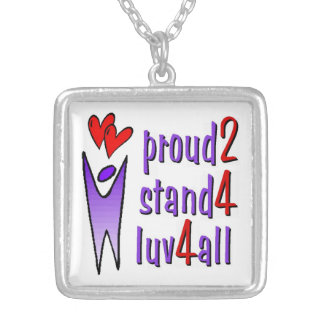 Stand For Love Necklace - White
