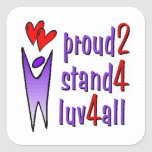 Stand For Love Sticker - White