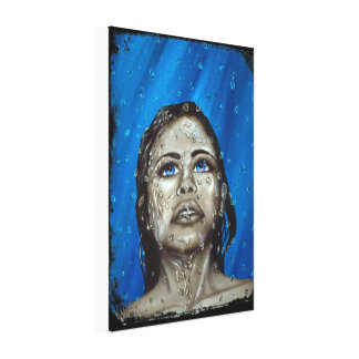 Stand in the rain canvas print