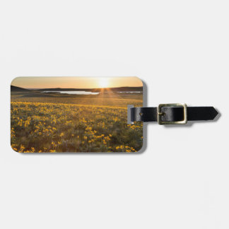 Stand Of Arrowleaf Balsamroot Wildflowers Tag For Luggage