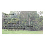 Stand of trees in garden business card template