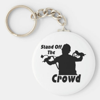 Stand Off The Crowd Basic Round Button Keychain