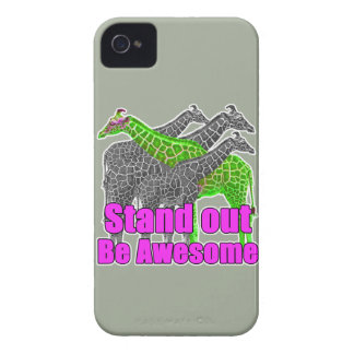 Stand out and be Awesome iPhone 4 Cover